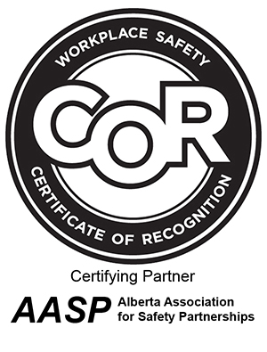COR. Workplace Safety Certificate of recoginition. Alberta Association for safty partnerships